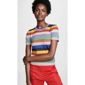 Alice + Olivia Baylor Rainbow Stripe Sweater